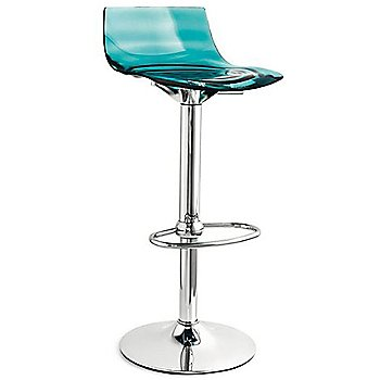 Chromed Metal Frame / Transparent Aquamarine Styren seat