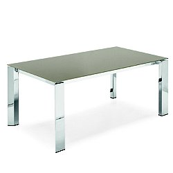 Gate Glass Top Extending Dining Table