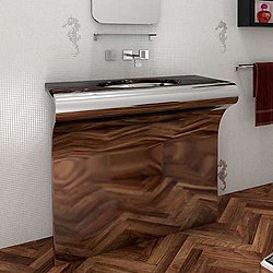 Venti Stainless Steel Single Console with Counter Top