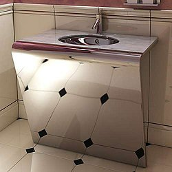 Settantacinque Single Steel Console with Counter Top