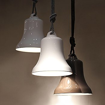 Shown lit in Polished White and Polished Grey Mud finishes