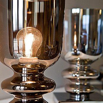 Shown lit in Bronze glass, unlit in Chrome glass