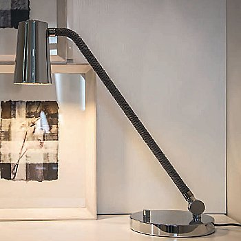 Shown lit in Chrome finish, Medium size
