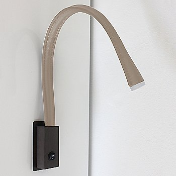 Shown in Satin Bronze, Ivory Leather