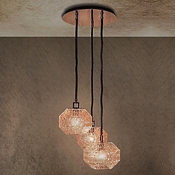 Pink Gold glass, illuminated