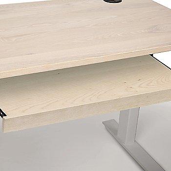 Soaped Ash / White Wood Leg finish / Keyboard Tray Option