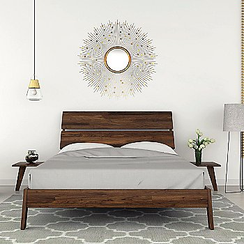 Natural Walnut finish / Queen Size