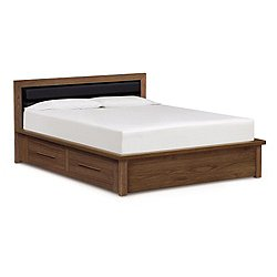 Moduluxe 35-Inch Storage Bed with Microsuede Headboard
