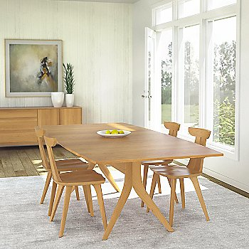 Catalina Trestle Extension Table, 60 X 40 Inches with Estelle sidechair