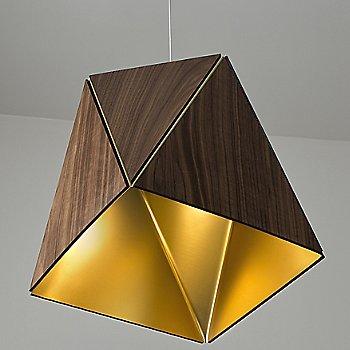 Shown in Oiled Walnut, Brushed Brass shade, Medium