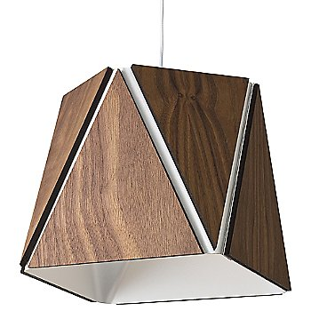 Oiled Walnut outer shade / Brushed Aluminum inner shade