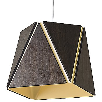 Dark Stained Walnut outer shade / Brushed Brass inner shade