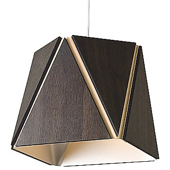 Dark Stained Walnut outer shade / Rose Gold inner shade