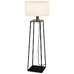 Tiffany 2 Outdoor Floor Lamp (Black) - OPEN BOX RETURN