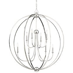 Sylvan 8-Light Chandelier (Polished Nkl/1) - OPEN BOX RETURN