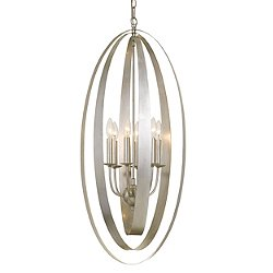 Luna 6-Light Chandelier (Antique Silver) - OPEN BOX RETURN