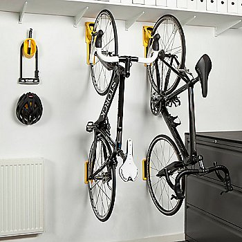 White Cycloc Solo bike wall mount