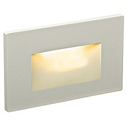 Horizontal Recessed LED Step Light (Silver) - OPEN BOX