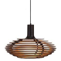 Dipper Large Pendant Light (Black/Walnut) - OPEN BOX RETURN