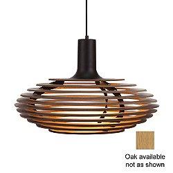 Dipper Large Pendant Light (Oak/White) - OPEN BOX RETURN