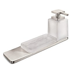 Harmoni Wall Mounted Holder with Soap Dish and Soap Dispenser Kit