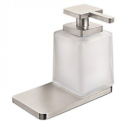 Harmoni Wall Mounted Single Holder with Soap Dispenser and Shelf