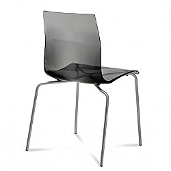 Gel-B Stacking Chair, Set of 2 (Transparent Smoke) -OPEN BOX