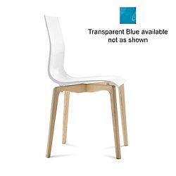 Gel-L Chair (Transparent Blue/Light Oak) - OPEN BOX RETURN