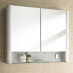 Light And Mirror Medicine Cabinet With Shelf