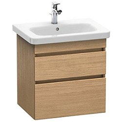 DuraStyle Wall Mounted Vanity Base Double Drawer