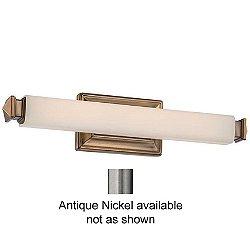 "Bristol Vanity Light (Etched/Antq Nckl/Small/20"")-OPEN BOX"