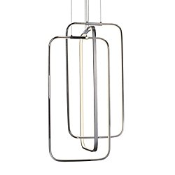 Silvia LED Rectangular Multi-Light Pendant Light