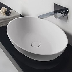 Thin Oval Vessel Sink