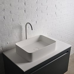 Thin SQ Rectangular Vessel Sink