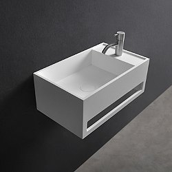 Cube Wall Hung Sink with Towel Bar