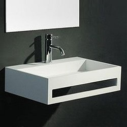 Pure Wall Hung Sink with Towel Bar