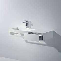 Pure Wall Hung Sink with Drawer and Towel Bar