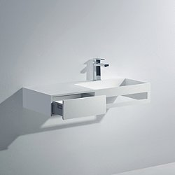 Pure Wall Hung Sink with Drawer and Towel Bar - OPEN BOX