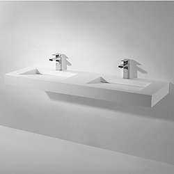 Square Wall Hung or Freestanding Double Basin Sink