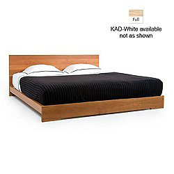011 Atlantico Bed(KAD-White-Full/White Oaks/Oiled)-OPEN BOX
