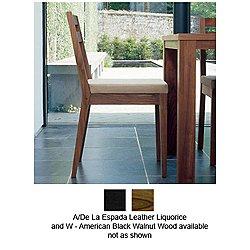 125 Minimal Chair(Black Walnut/A/Leather Liquorice)-OPEN BOX