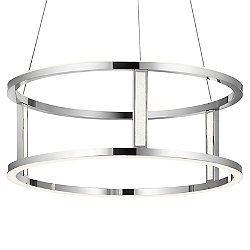 Mira LED Drum Pendant Light