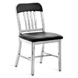 Navy Semi-Upholstered Chair