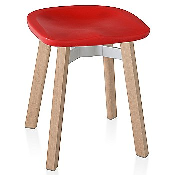 Red with Wood finish