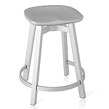 Flint seat color with Natural Anodized Aluminum base finish/ Counter Height