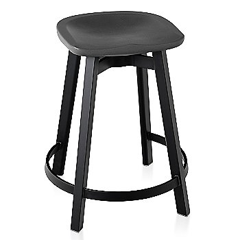 Charcoal seat color with Black Anodized Aluminum base finish/ Counter Height
