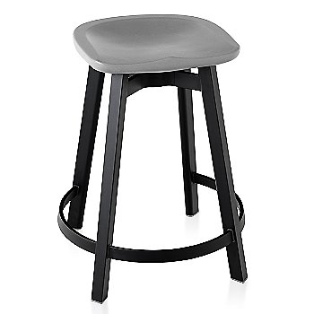 Flint seat color with Black Anodized Aluminum base finish/ Counter Height