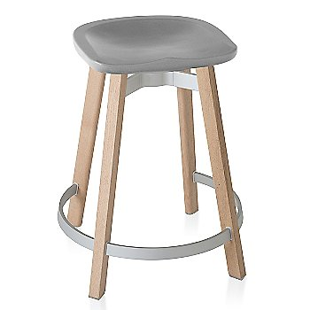 Flint seat color with Wood base finish/ Counter height