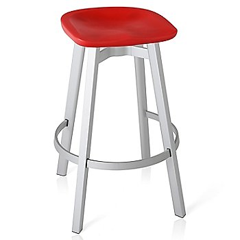 Red seat color with Natural Anodized Aluminum base finish/ Bar height