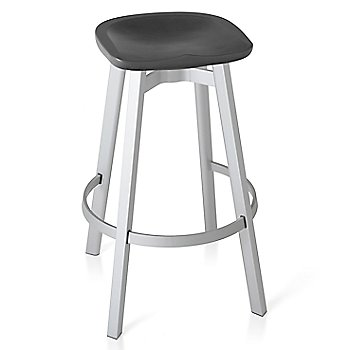 Charcoal color with Natural Anodized Aluminum base finish/ Bar Height